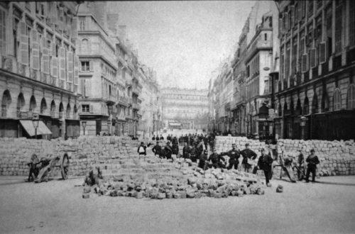 Barricade place Vendome Commune Paris 1871